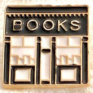 BOOKS BOOKSTORE Enamel Pin: Bibliophiles Bookworms